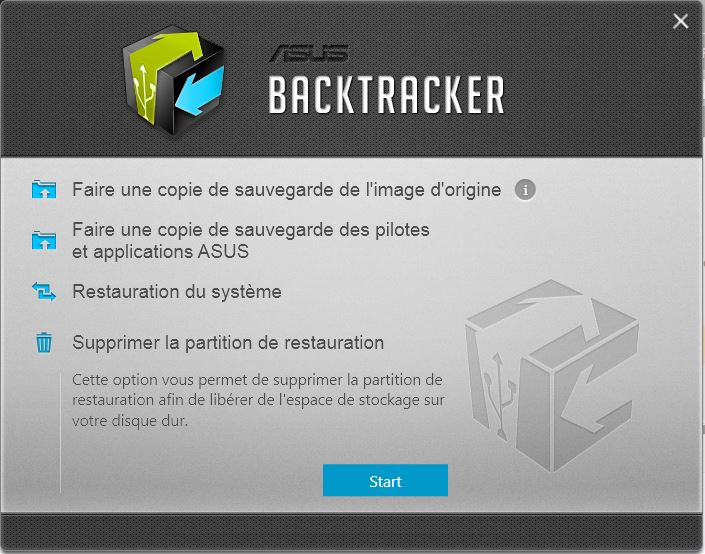r solu effacer partition recovery impossible le forum des portables asus. Black Bedroom Furniture Sets. Home Design Ideas